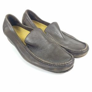 Cole Haan Pebbled Pinch Slip On Moc Loafers 11 M